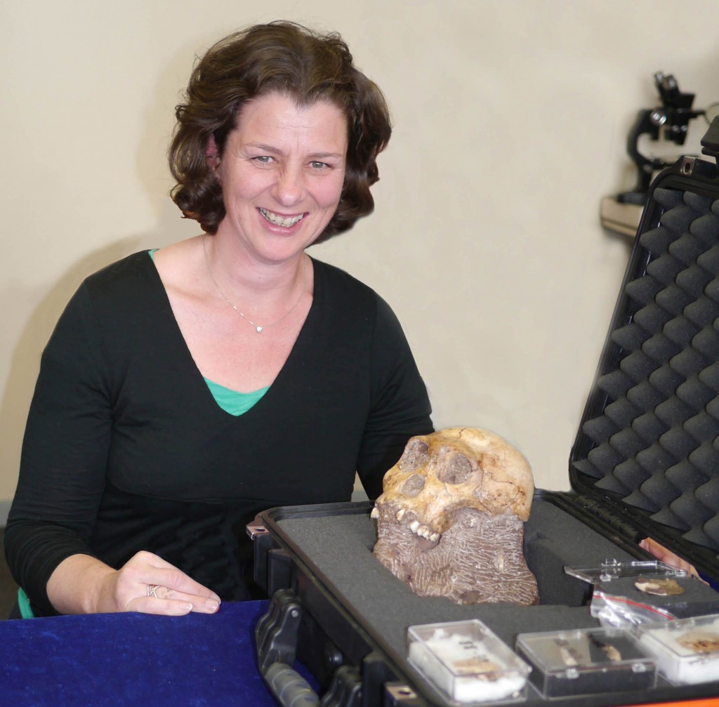 2012- Daniela with Australopithecus Sediba